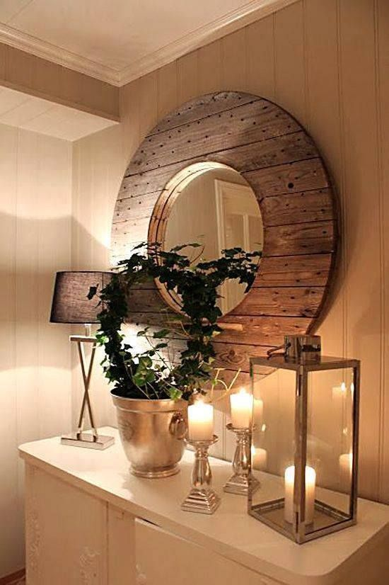 l 39 id e d co du dimanche un miroir avec un touret. Black Bedroom Furniture Sets. Home Design Ideas