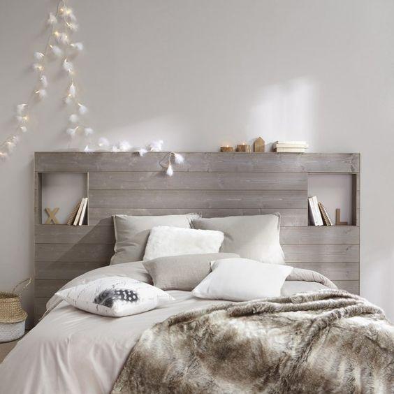 Décoration tête de lit lambris