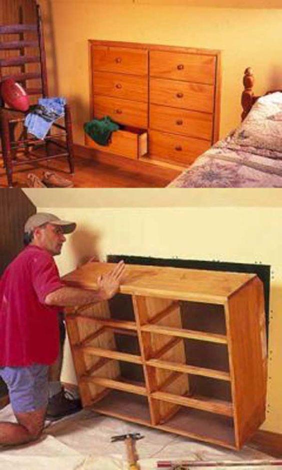 Décoration DIY commode dans les combles