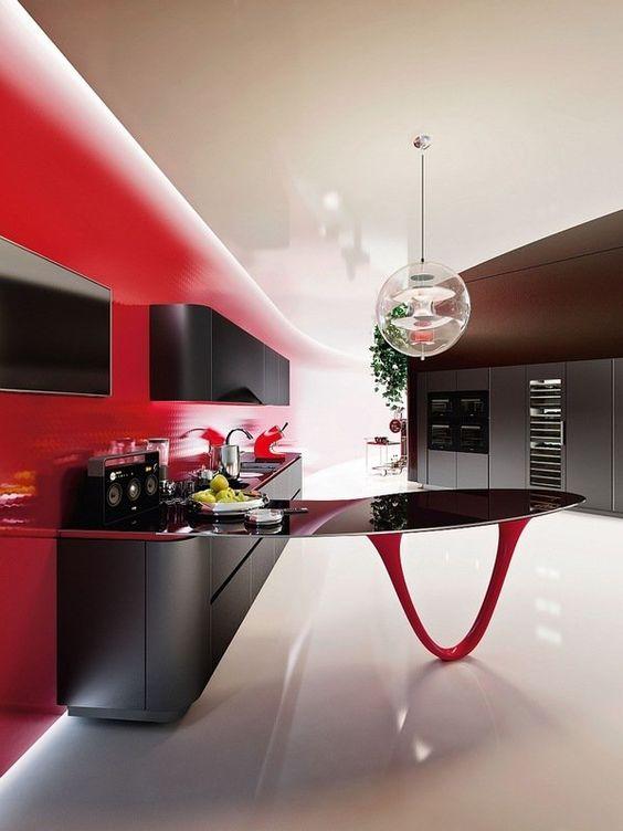 Décoration noir et rouge