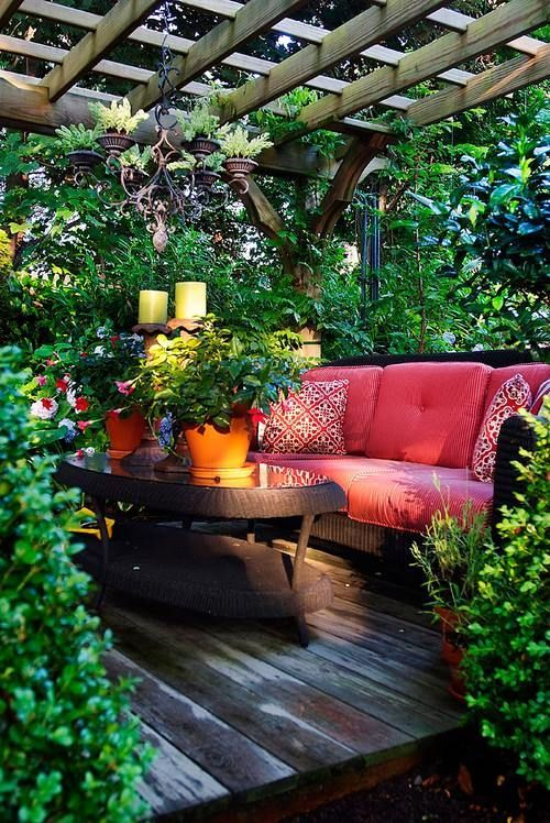 Décoration salon jardin