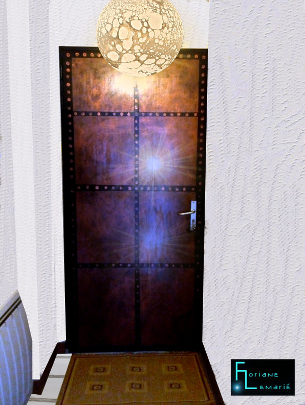 Décoration porte d'entrée DIY Floriane Lemarié