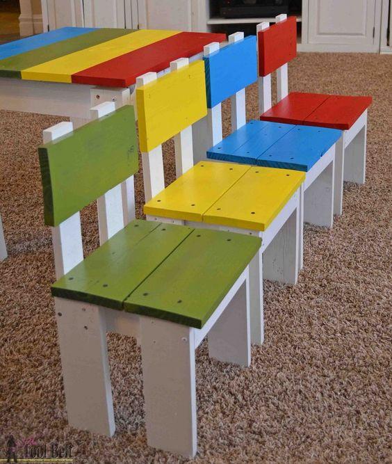 L id e d co du samedi des chaises pour enfant avec du for Idee deco avec du bois