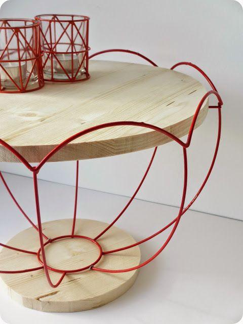 diy fabriquer un gu ridon tendance avec une structure d abat jour floriane lemari. Black Bedroom Furniture Sets. Home Design Ideas