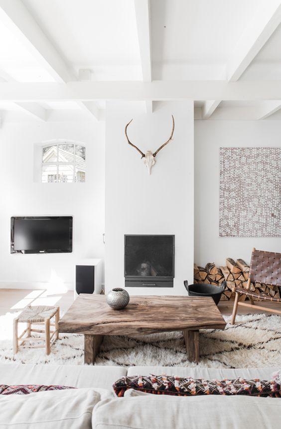 Décoration blanc et bois