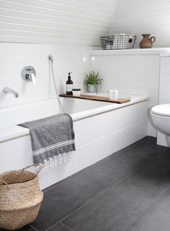 Décoration sall de bain blanche