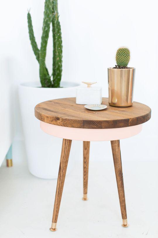 Décoration DIY table d'appoint