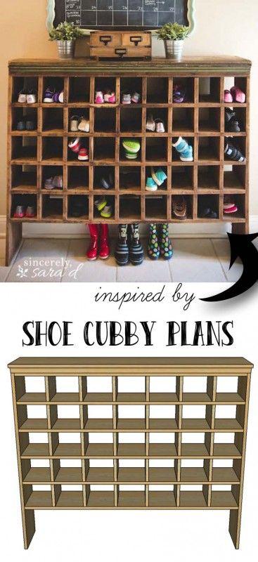 Décoration meuble à chaussures vintage DIY