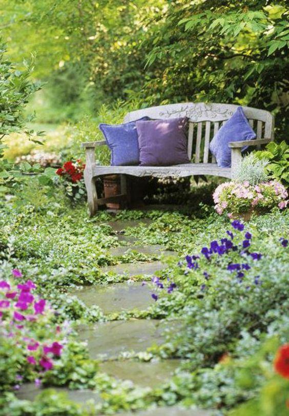 Des jardins anglais floriane lemari for Banc anglais jardin