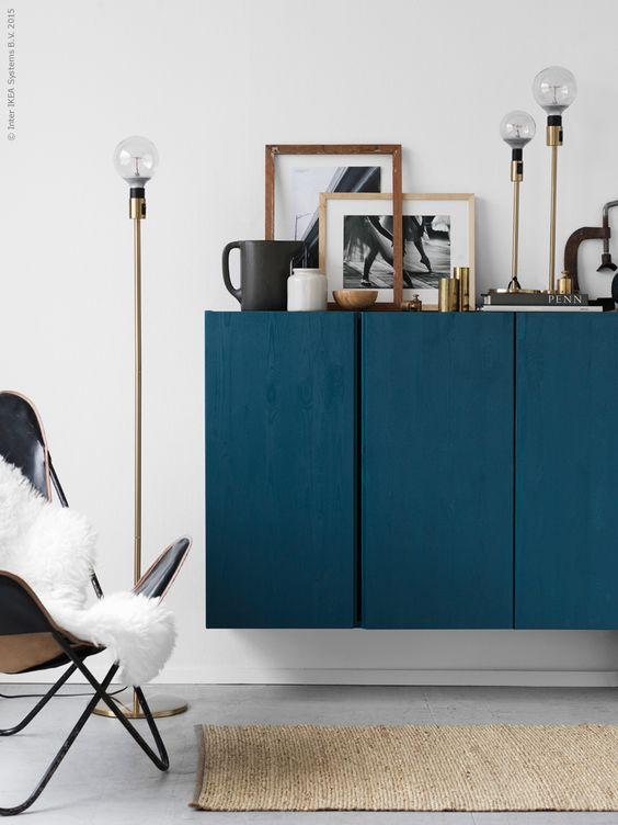 Décoration touche de bleu