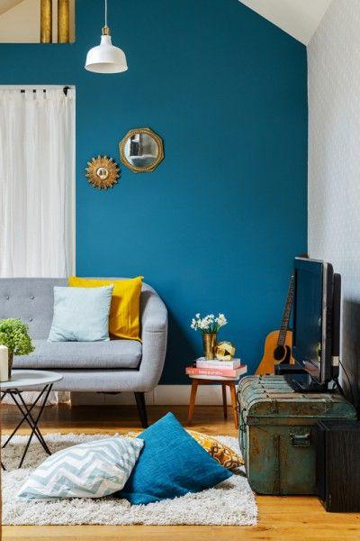 Décoration bleu et gris
