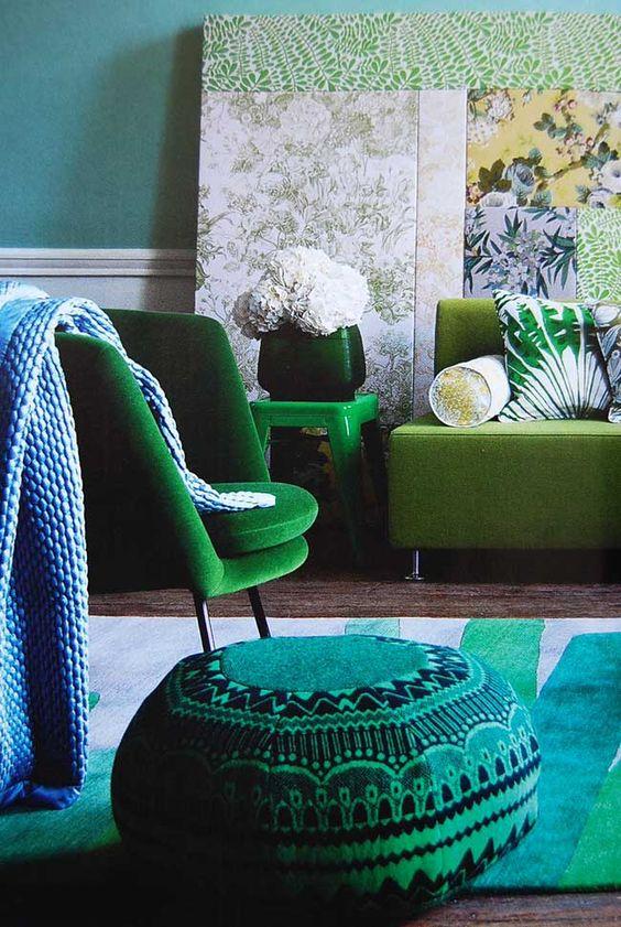 Décoration bleu et vert