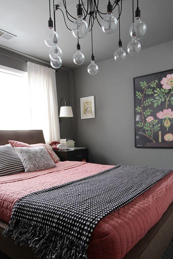 Décoration rose et gris