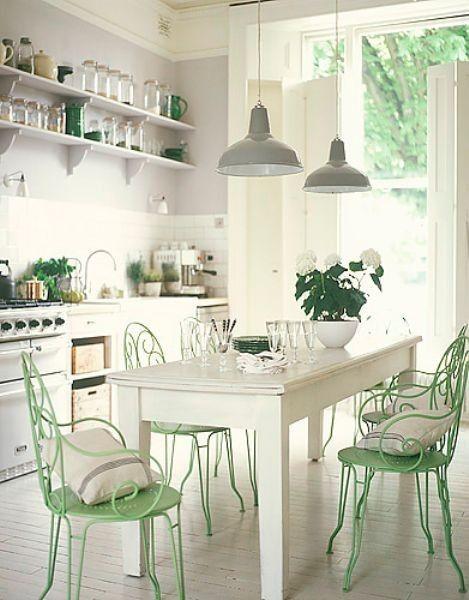 Décoration blanc et vert