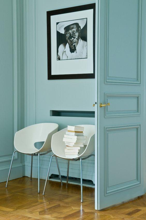 Décoration bleu et blanc