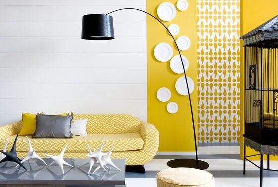 Décoration jaune et blanc