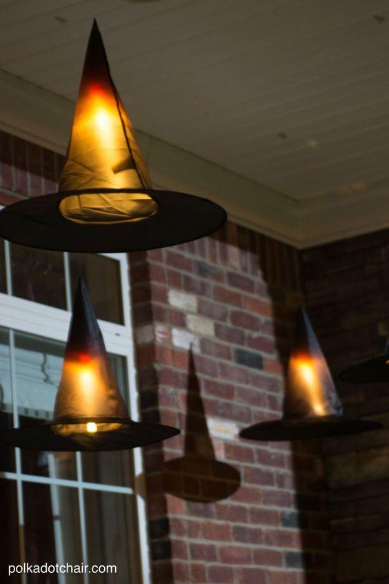 diy cr er des chapeaux de sorci re lumineux pour halloween floriane lemari. Black Bedroom Furniture Sets. Home Design Ideas