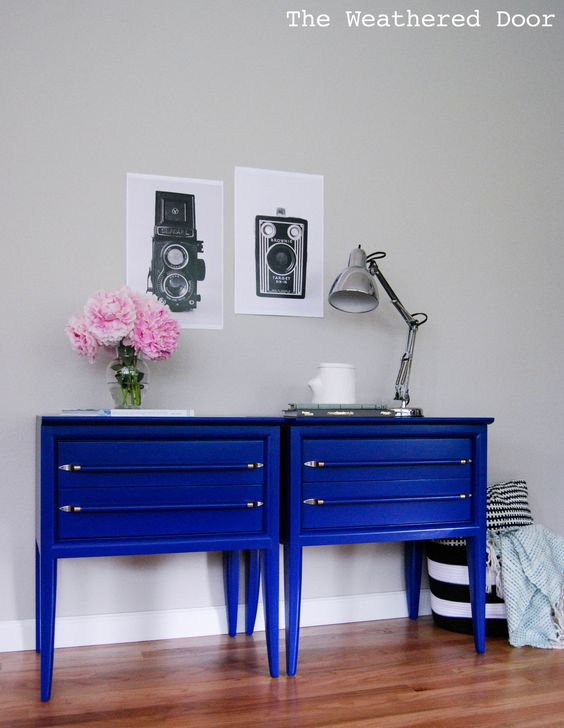 Décoration bleu électrique