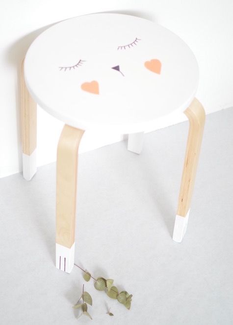 L id e d co du dimanche customiser un tabouret floriane lemari - Customiser un tabouret ...