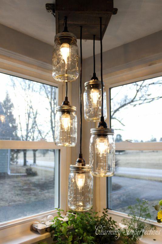 569764fe191b9b L idée déco du samedi   fabriquer un luminaire avec des bocaux en ...