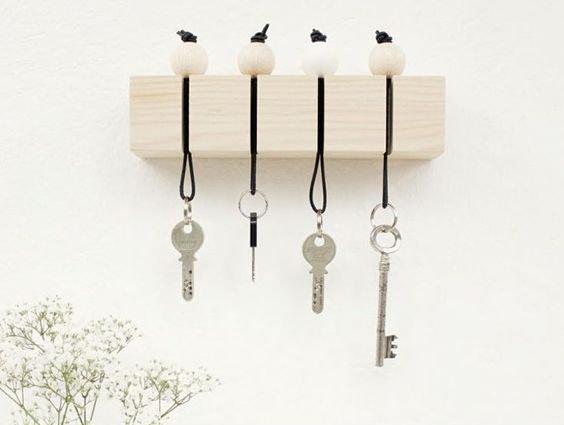 Porte-clés en bois DIY