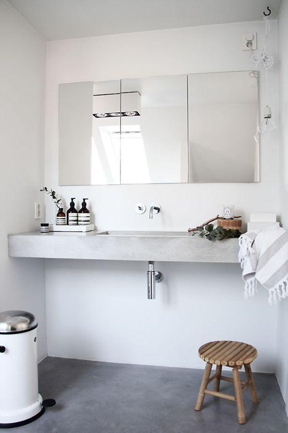 Décoration salle de bain minimaliste