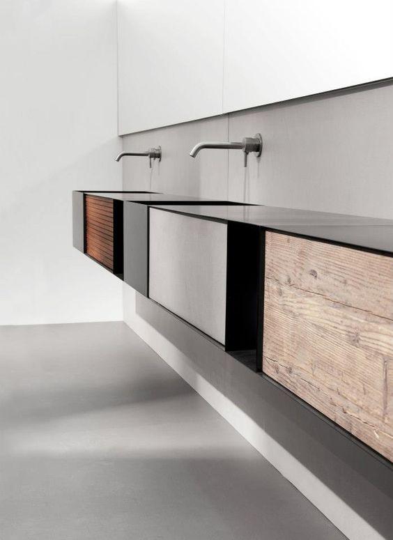 Des salles de bain minimalistes floriane lemari for Salle de bain minimaliste
