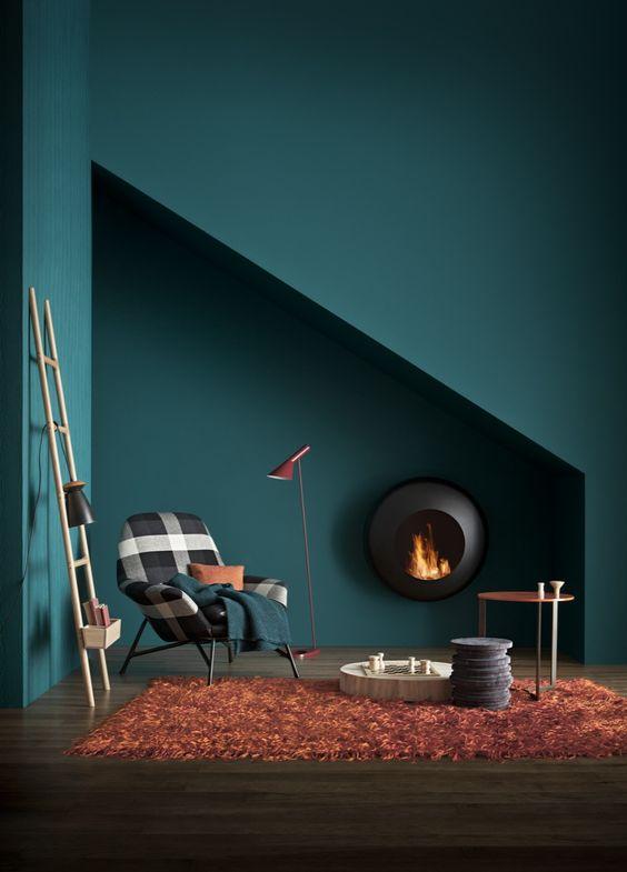 Décoration cheminée colorée