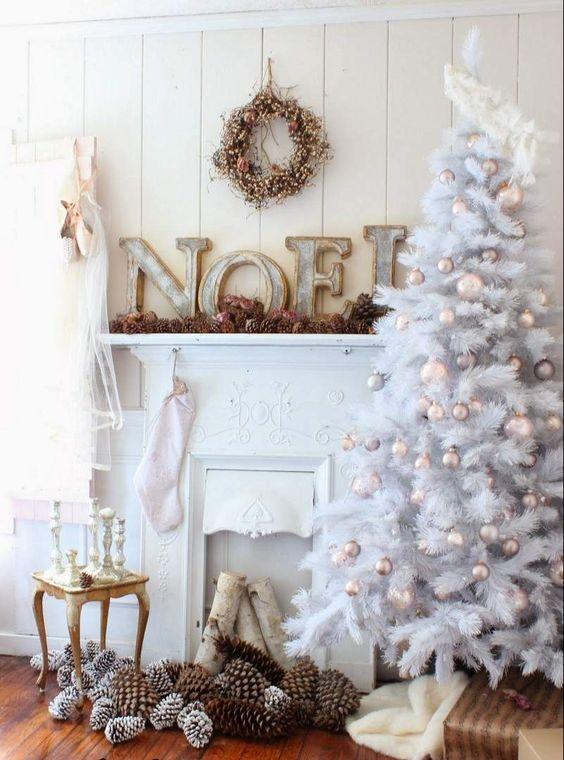 Décoration Noël blanc