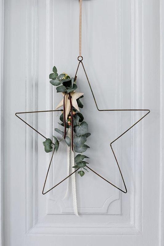 Décoration couronne de Noël
