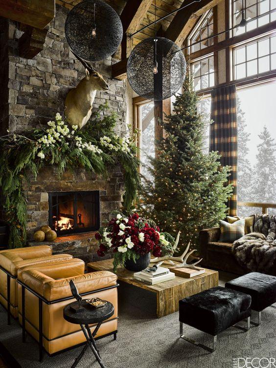 Décoration cheminée Noël