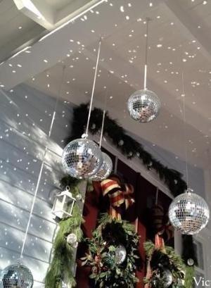 Décoration sapin disco