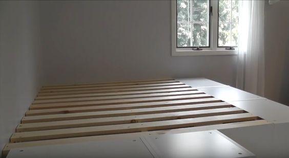 diy construire un lit plate forme floriane lemari. Black Bedroom Furniture Sets. Home Design Ideas