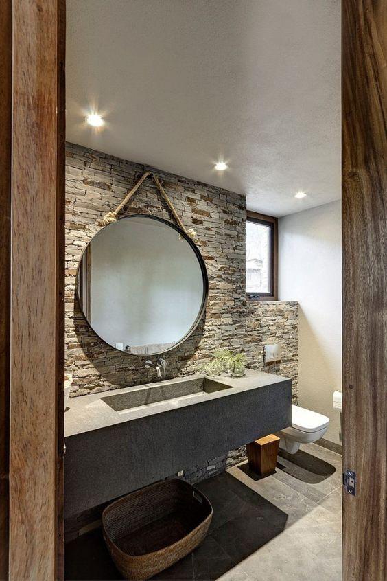 de la pierre dans la salle de bain floriane lemari. Black Bedroom Furniture Sets. Home Design Ideas