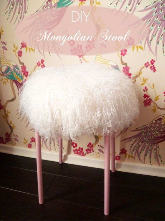 Décoratio tabouret DIY