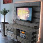 Décoration meuble TV palettes