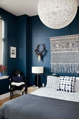 Décoration bleu marine