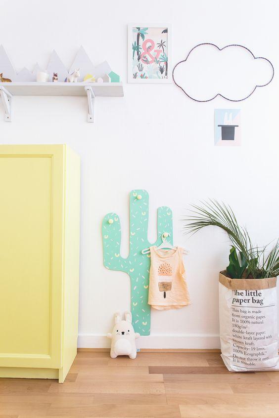 l id e d co du samedi cr er un porte manteau cactus pour les enfants floriane lemari. Black Bedroom Furniture Sets. Home Design Ideas