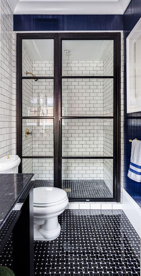 Des salles de bain en noir et blanc floriane lemari - Salle de bain noir blanc ...