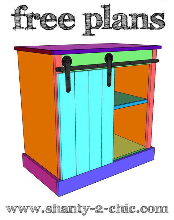 Diy fabriquer une table de nuit avec porte coulissante floriane lemari - Fabriquer table de nuit ...
