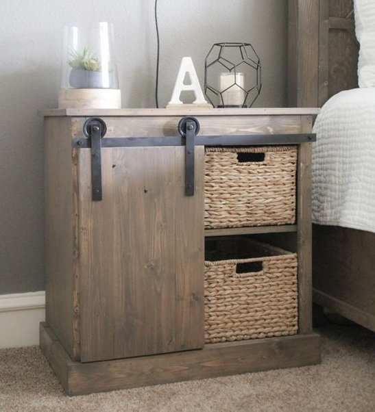 diy fabriquer une table de nuit avec porte coulissante. Black Bedroom Furniture Sets. Home Design Ideas