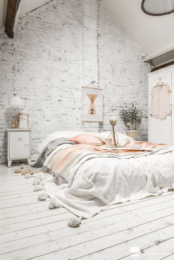 D coration de la chambre quand le blanc devient un atout - Deco chambre blanche ...