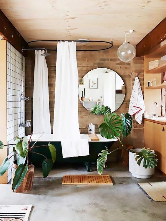 Décoration salle de bain jungle