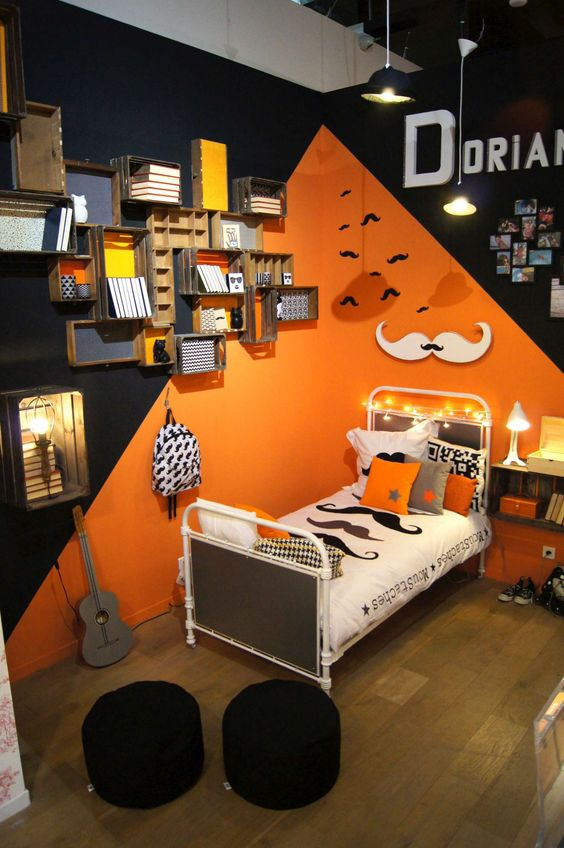 Deco Chambre Orange. Stunning Deco Chambre Orange With Deco Chambre ...