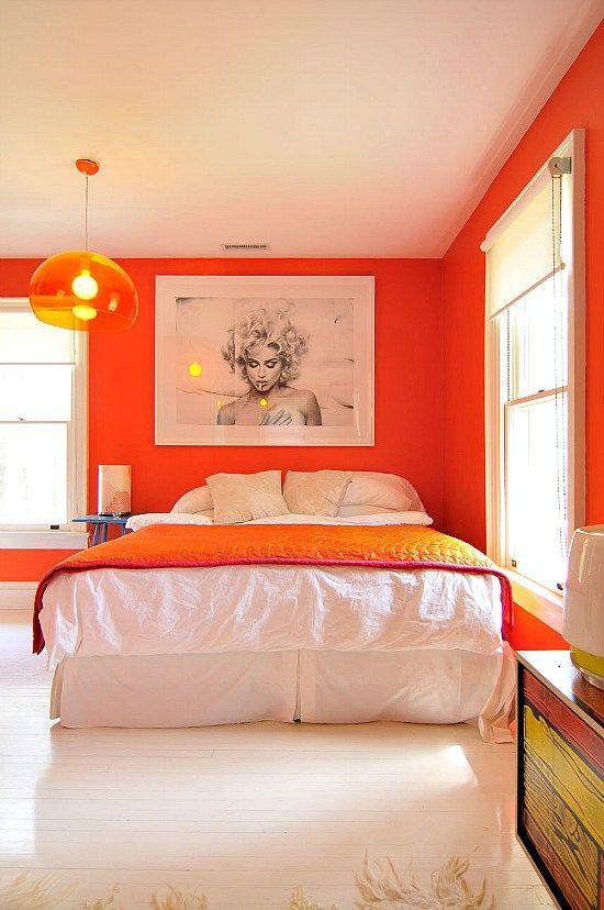 De l 39 orange dans la chambre floriane lemari for Chambre orange et noir
