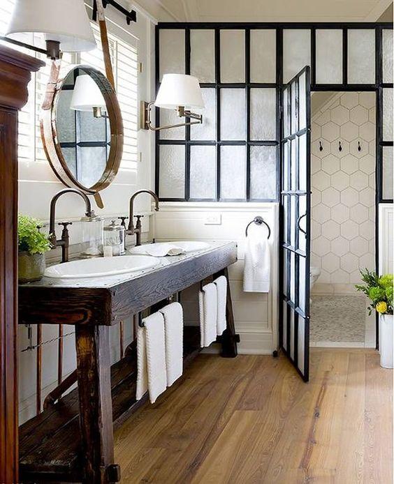 Décoration parquet salle de bain