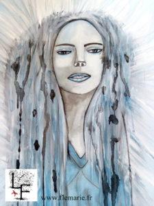 Blue  Aquarelle sur papier
