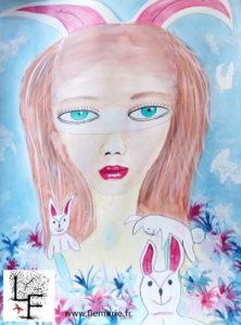 Bunny  Aquarelle sur papier A2 300g/m2