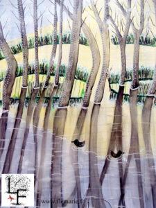 Canards  Aquarelle sur papier A2 300g/m2