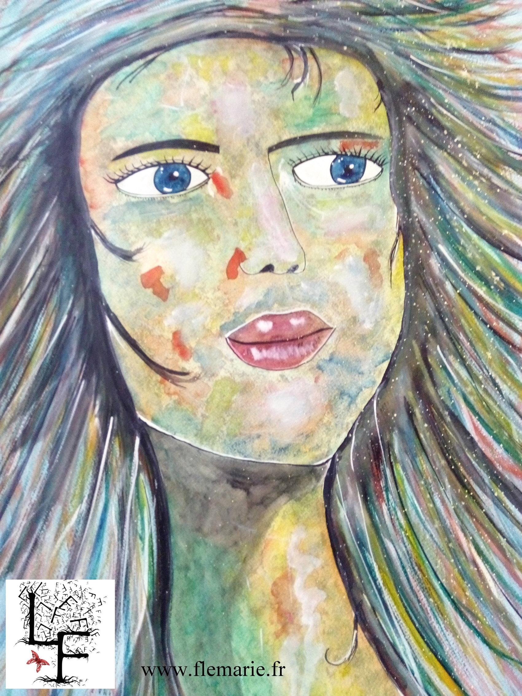 Colorée  Aquarelle sur papier A2 300g/m2
